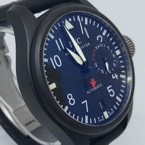 IWC Big Pilot Top Gun occasion 48,6mm Noir Date Cuir