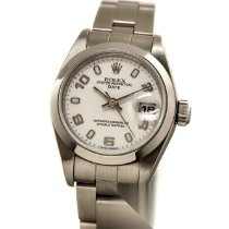 Rolex Oyster Perpetual Lady Date Acier 26mm Blanc Arabes