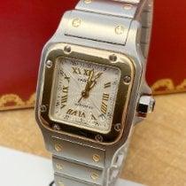 Cartier Santos Galbée używany 24mm Srebrny Data Złoto/Stal
