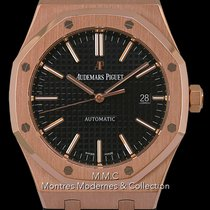 Audemars Piguet Royal Oak Selfwinding Or rose 41mm Noir Sans chiffres France, Paris