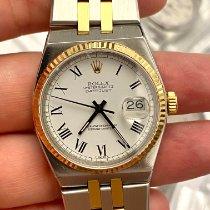 Rolex Datejust Oysterquartz Zlato/Zeljezo 36mm Bjel Rimski brojevi