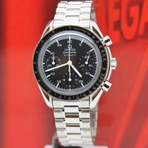 Omega Speedmaster Reduced Stål 39mm Sort Ingen tal