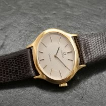 Omega Yellow gold Manual winding Silver pre-owned Genève