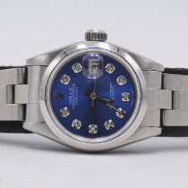 Rolex Oyster Perpetual Lady Date Сталь 26mm Синий