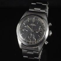 Rolex Chronograph Acier 36mm Noir Sans chiffres