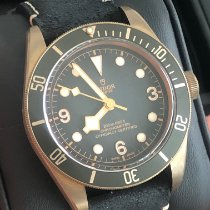 Tudor Bronze Automatic Grey Arabic numerals 43mm pre-owned Black Bay Bronze