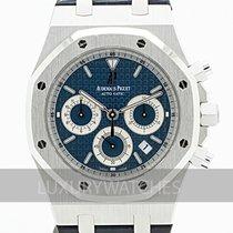 Audemars Piguet Or blanc Remontage automatique Bleu 39mm occasion Royal Oak Chronograph