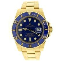 Rolex Submariner Date Yellow gold 40mm Blue United States of America, New York, New York