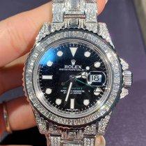 Rolex GMT-Master II Stahl 40mm Silber Keine Ziffern