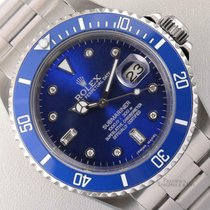 Rolex Submariner Date Aço 40mm Azul