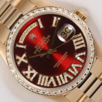 Rolex Day-Date 36 Yellow gold 36mm Red United States of America, California, Los Angeles