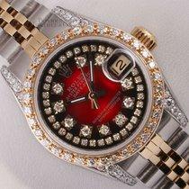 Rolex Lady-Datejust Stahl 26mm Rot