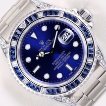 Rolex Submariner Date pre-owned 40mm Blue Steel