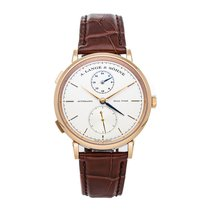 A. Lange & Söhne Rose gold Automatic Silver No numerals 40mm pre-owned Saxonia