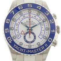 劳力士 Yacht-Master II 钢 44mm 白色 无数字