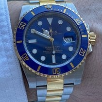 Rolex Submariner Date pre-owned 40mm Blue Date Gold/Steel