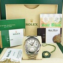 Rolex Datejust II Or blanc 41mm Argent