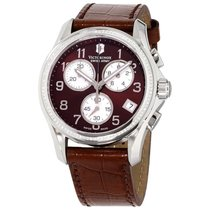 Victorinox Swiss Army Chrono Classic Steel 41mm Brown Arabic numerals United States of America, Connecticut, Shelton