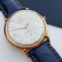 Omega Yellow gold Manual winding Champagne No numerals 37mm pre-owned De Ville Trésor