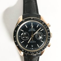 Omega Rose gold Automatic Black No numerals 44.2mm pre-owned Speedmaster Professional Moonwatch
