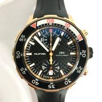 IWC Aquatimer Chronograph Ouro rosa 44mm Preto Sem números