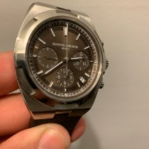 Vacheron Constantin Overseas Chronograph pre-owned 42.5mm Brown Chronograph Date Steel