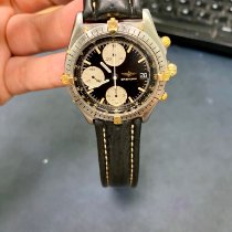 Breitling Chronomat Acero y oro 40mm Negro Sin cifras