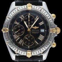 Breitling Altın/Çelik 43mm Siyah Romen rakamları