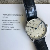 IWC Portuguese Automatic pre-owned 42mm Silver Date Crocodile skin