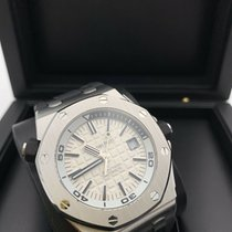 Audemars Piguet Steel Automatic Silver No numerals 42mm pre-owned Royal Oak Offshore Diver