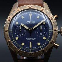 Oris Carl Brashear Bronce 43mm Azul Sin cifras