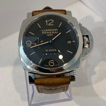 Panerai Luminor 1950 10 Days GMT Otel 44mm Negru Arabic