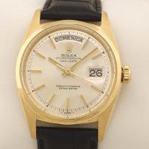 Rolex Day-Date Oro amarillo 36mm Plata Sin cifras