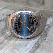 Orient Acier 42mm Bleu Sans chiffres
