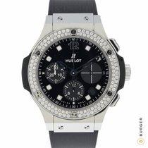 Hublot Big Bang 41 mm tweedehands 41mm Zwart Chronograaf Datum Rubber