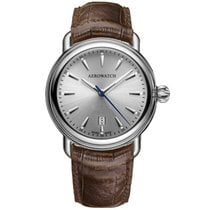 Aerowatch 1942 Steel 40mm Silver No numerals