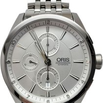 Oris Artix Chronograph pre-owned 44mm Silver Chronograph Steel
