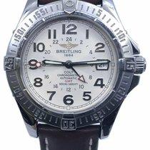 Breitling Colt GMT Сталь 40mm Белый Aрабские