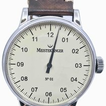 Meistersinger N° 01 Steel 43mm Champagne Arabic numerals United States of America, Florida, Naples