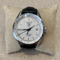 TAG Heuer Carrera Calibre 7 Steel 39mm Silver No numerals