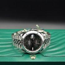 Rolex Datejust II Acier 41mm Noir Sans chiffres