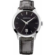 Aerowatch Les Grandes Classiques Steel 40mm Black No numerals