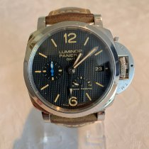 Panerai Luminor 1950 3 Days GMT Power Reserve Automatic usados 42mm Negro Piel