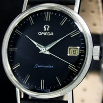 Omega Steel Manual winding Black No numerals 34mm pre-owned Seamaster