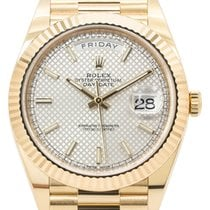 Rolex Day-Date 40 Yellow gold 40mm Silver