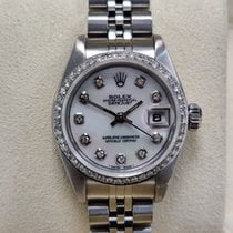 Rolex Oyster Perpetual Lady Date Сталь 26mm Белый Без цифр