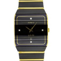 Rado Titanium Quartz Black No numerals 35mm pre-owned