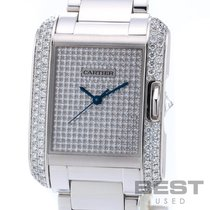 Cartier Tank Anglaise White gold 30mm Silver