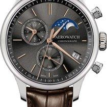 Aerowatch Renaissance Steel 40mm Grey No numerals