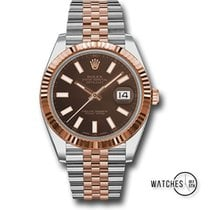 Rolex Datejust II Gold/Steel 41mm Brown No numerals United States of America, New York, New York